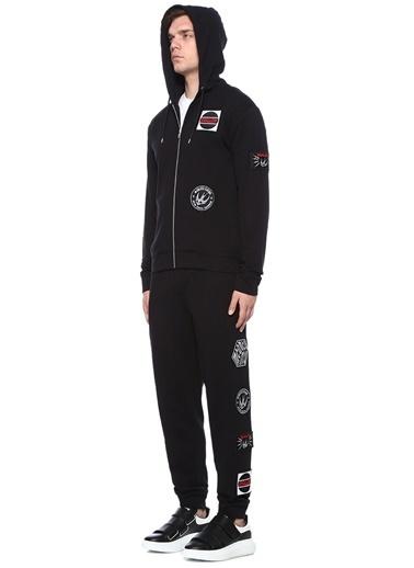 McQ Alexander McQueen Kapüşonlu Fermuarlı Sweatshirt Siyah